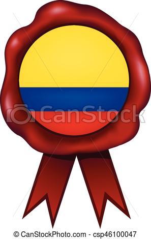 297x470 Colombia Wax Seal. Colombian Wax Seal. Eps Vector