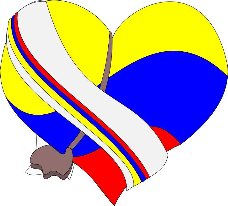 726x654 Corazon De Colombia! Clipart
