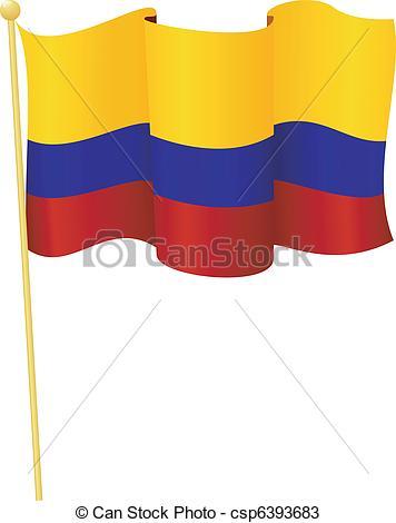 356x470 Flag Colombia. Vector. Vector Illustration Flag
