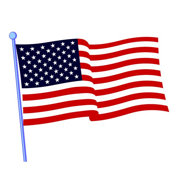 600x606 Extremely Free Us Flag Clip Art American Clipart Colonial Pencil