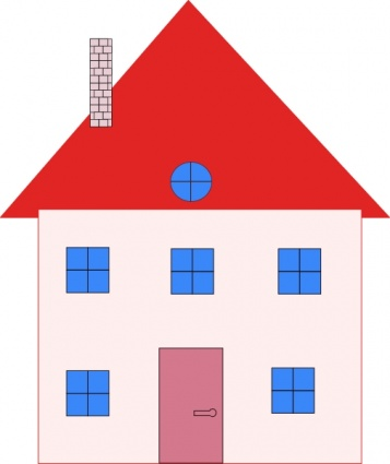 357x425 Free Download Of Colonial House Home Real Estate Clip Art Vector
