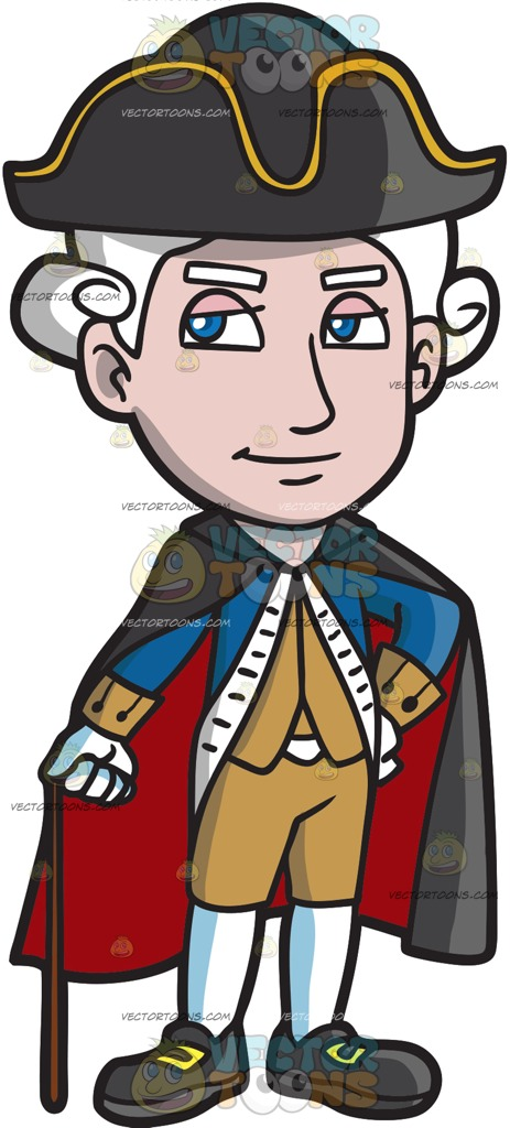 463x1024 A Cocky And Rich Colonial Man Cartoon Clipart Vector Toons