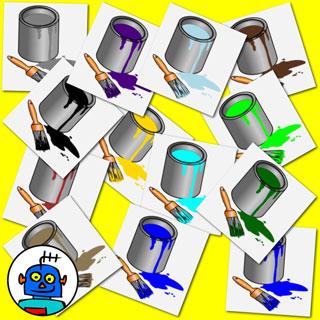 320x320 Colors Clip Art. 300dpi Color Plus Black And White.