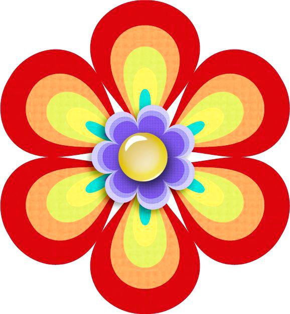 578x627 Flower Clip Art Blue And Yellow Flowers Flower Clip Art Border