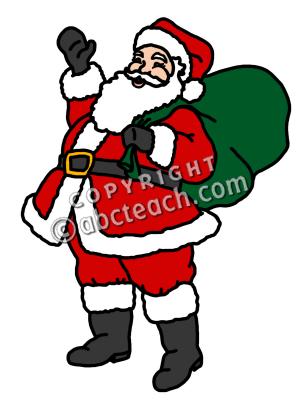300x400 Color Clip Art Santa Claus Clipart Panda