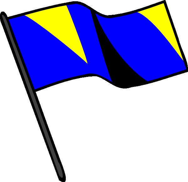 600x580 Blue Gold Black Flag Clip Art