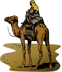258x298 Camel With Rider In Color Png, Svg Clip Art For Web