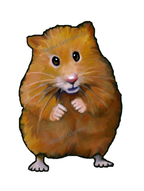 483x640 Clip Art Hand Drawn Hamster Animal Clipart Freehand Color