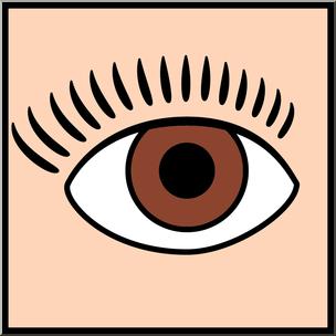 304x304 Clip Art Senses 1 Sight Color I Abcteach