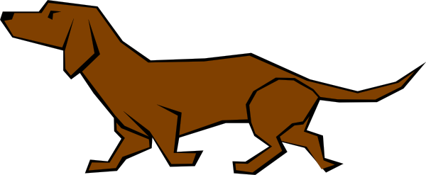 600x247 Simple Daschund Drawing In Color Clip Art