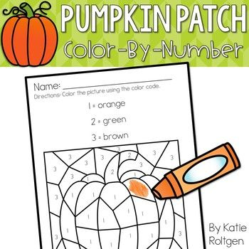 350x350 Pumpkin Patch Color By Number Pages Number Worksheets, Number