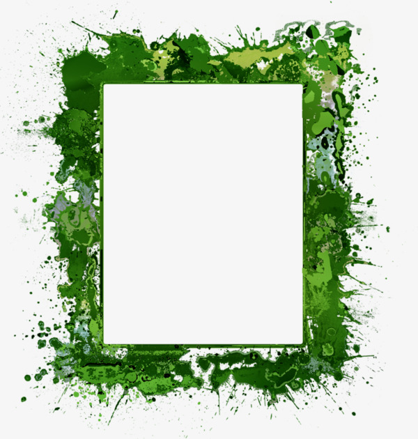 600x630 Green Color Ink Border, Ink Border, Dark Green Border, Frame Png
