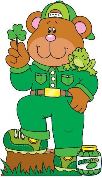 350x613 Activipeques Los Colores Verde Oso Bears Clip Art