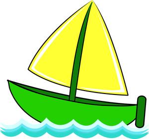 300x281 Green Clipart Sailboat