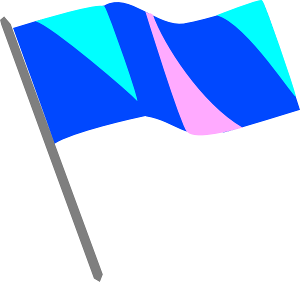 600x564 Blue Pink And Turq Flag Clip Art