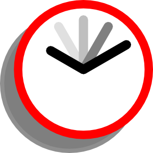 300x300 Clip Art Clock Animation Clipart Pencil And In Color