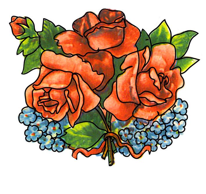 709x668 Pink Flower Clipart Flower Bunch