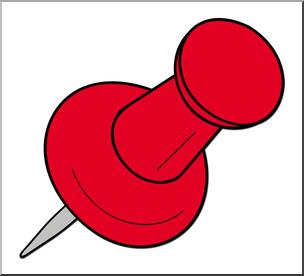 304x276 Clip Art Tack Red Color 2 I Abcteach