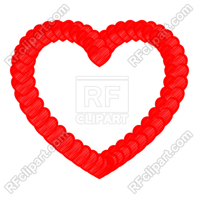 400x400 Heart Red Color With Small Hearts Art Style Royalty Free Vector