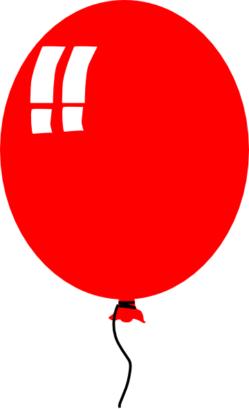 360x590 Red Baloon Helium Party Clip Art Free Vector 4vector