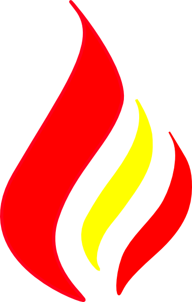 378x595 Red Flame Solid Color Clip Art