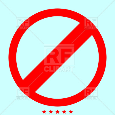 400x400 Sign Entry Prohibited Red Color Icon Royalty Free Vector Clip Art