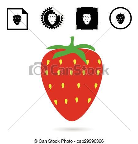450x470 Strawberry Color Red Vector Illustration Clip Art Vector