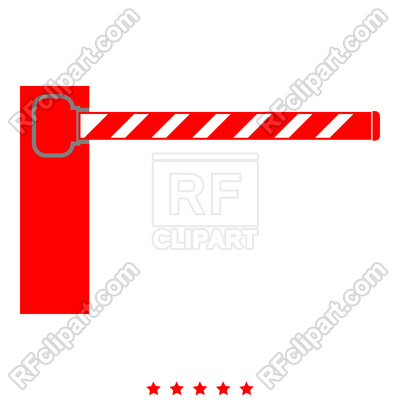 400x400 Barrier Icon Illustration Red Color Simple Style Royalty Free