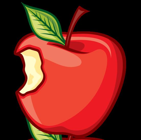552x548 Clip Art Of A Bitten Apple Vector Getty Images