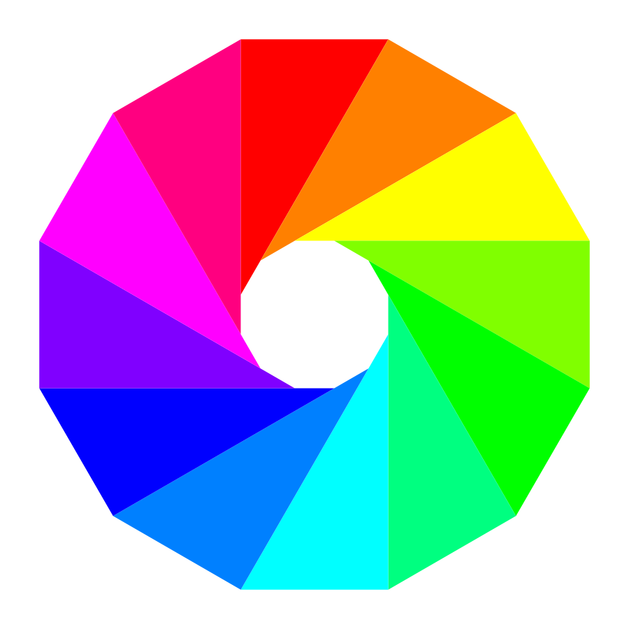 900x900 Color Wheel Complementary Colors Clip Art