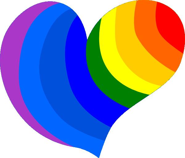 600x511 Rainbow Hearts Rainbow Heart Clip Art I