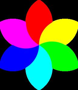 258x298 6 Color Football Flower Remix Clip Art
