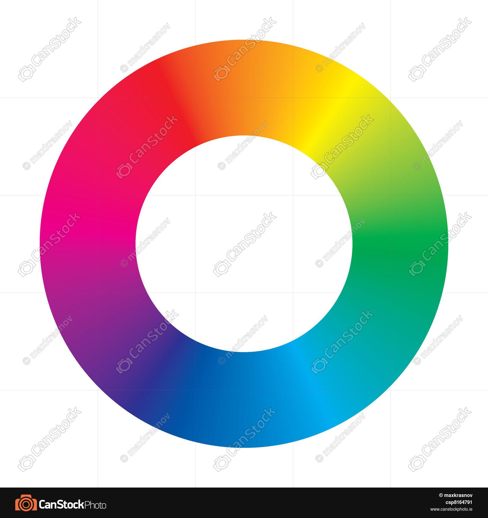1600x1700 Vector Color Wheel On White Background Vector Clip Art