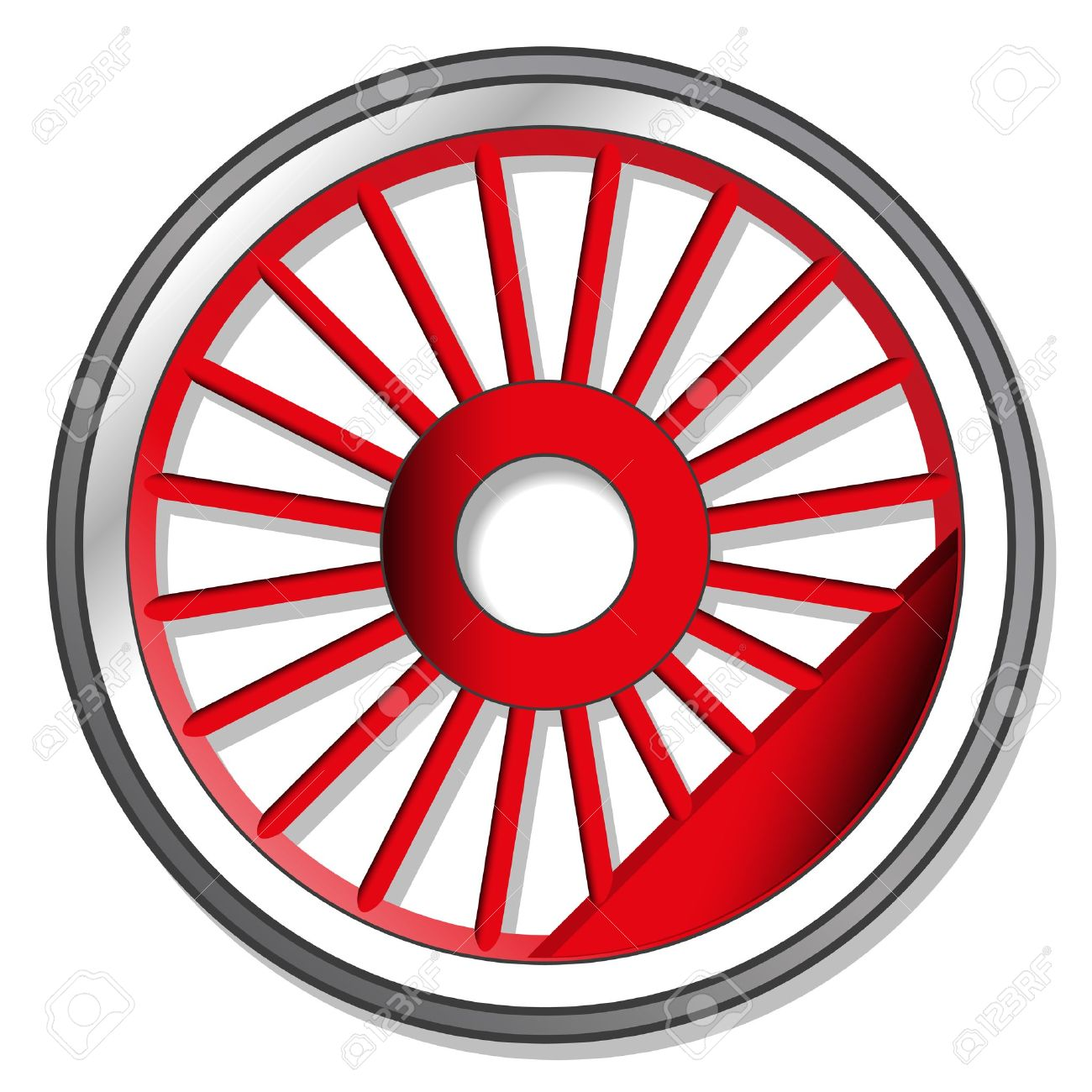 1300x1300 Wheel Clipart Train Wheel