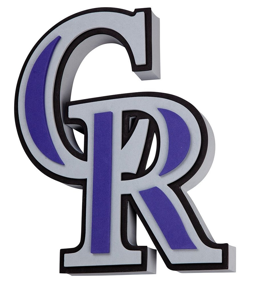 918x1024 Colorado Rockies 3d Fan Foam Logo Sign