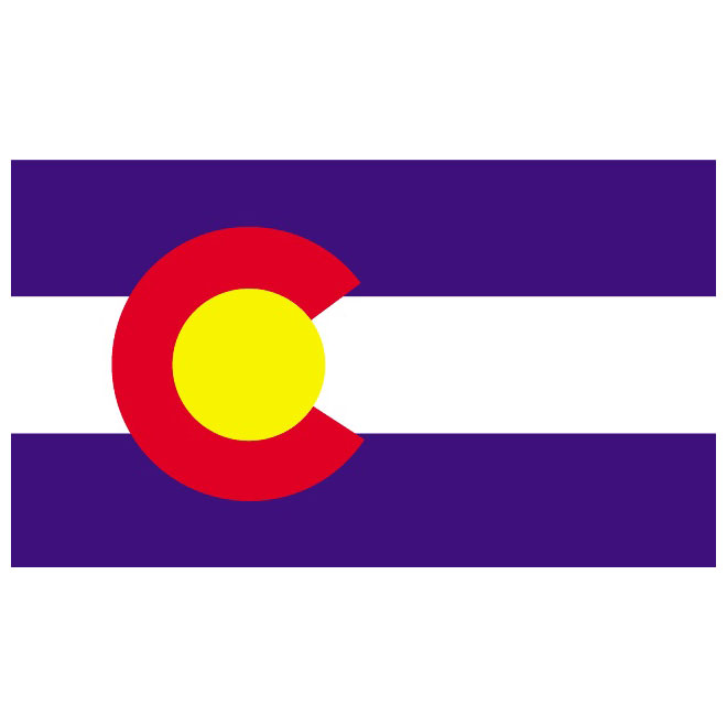 ... State University Clip Art. 660x660 COLORADO VECTOR FLAG