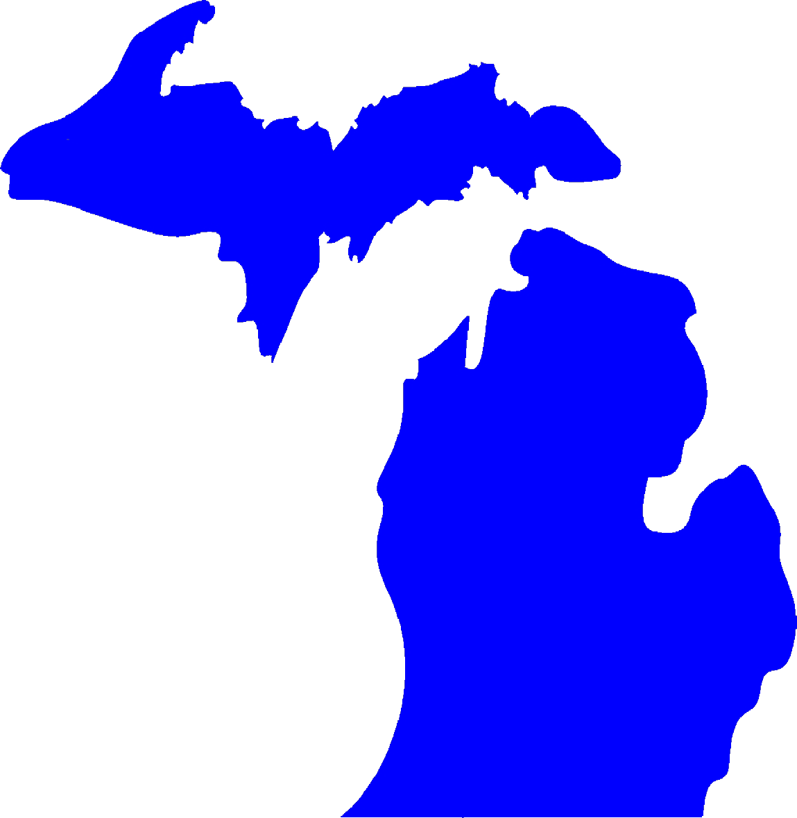 1149x1179 State Of Michigan Clipart