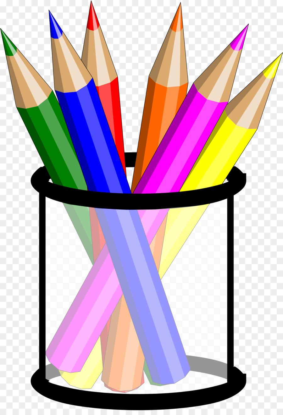 900x1320 Colored Pencil Drawing Clip Art