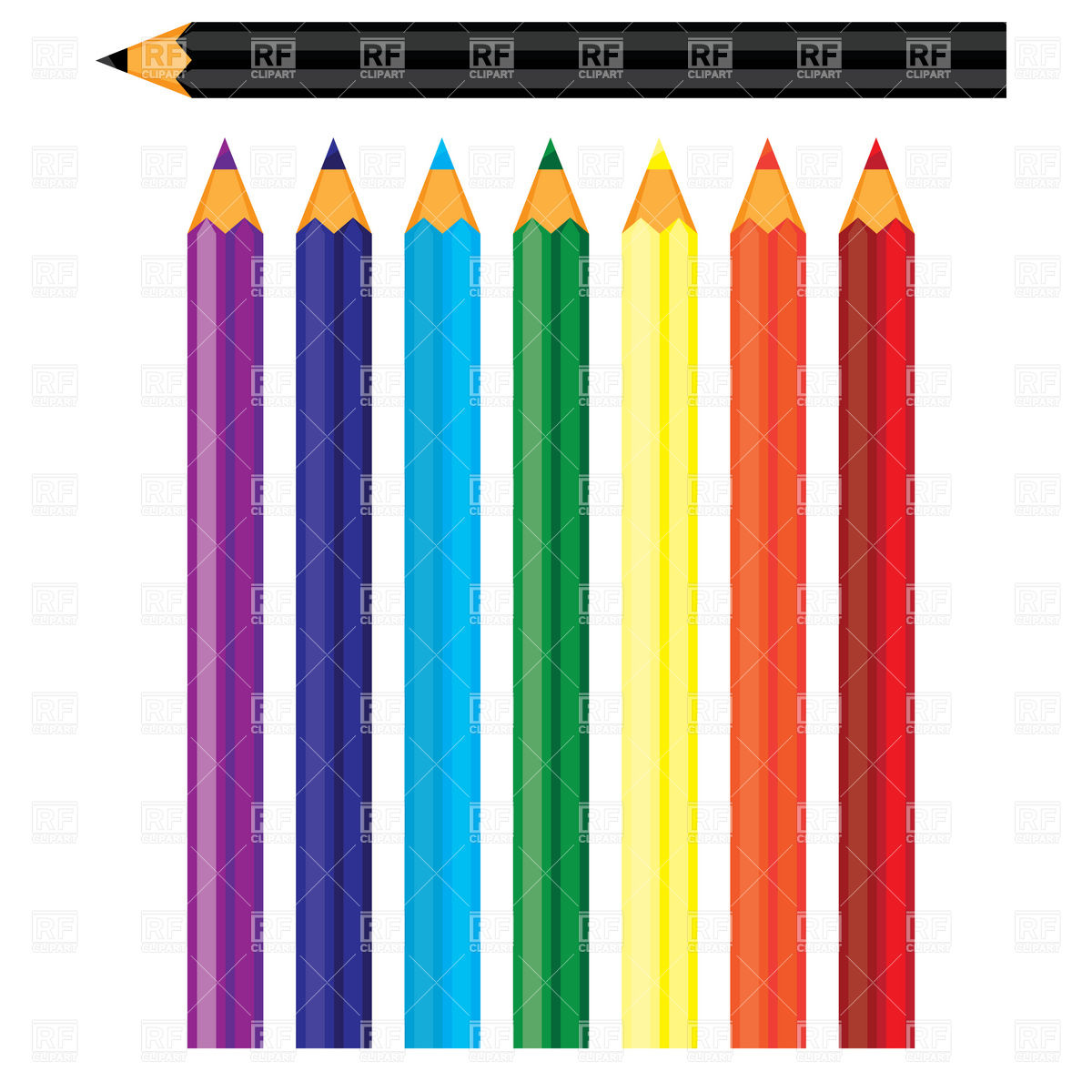 Colored pencil clipart at getdrawings free for personal use 1200x1200 coloured pencils royalty free vector clip art image voltagebd Images