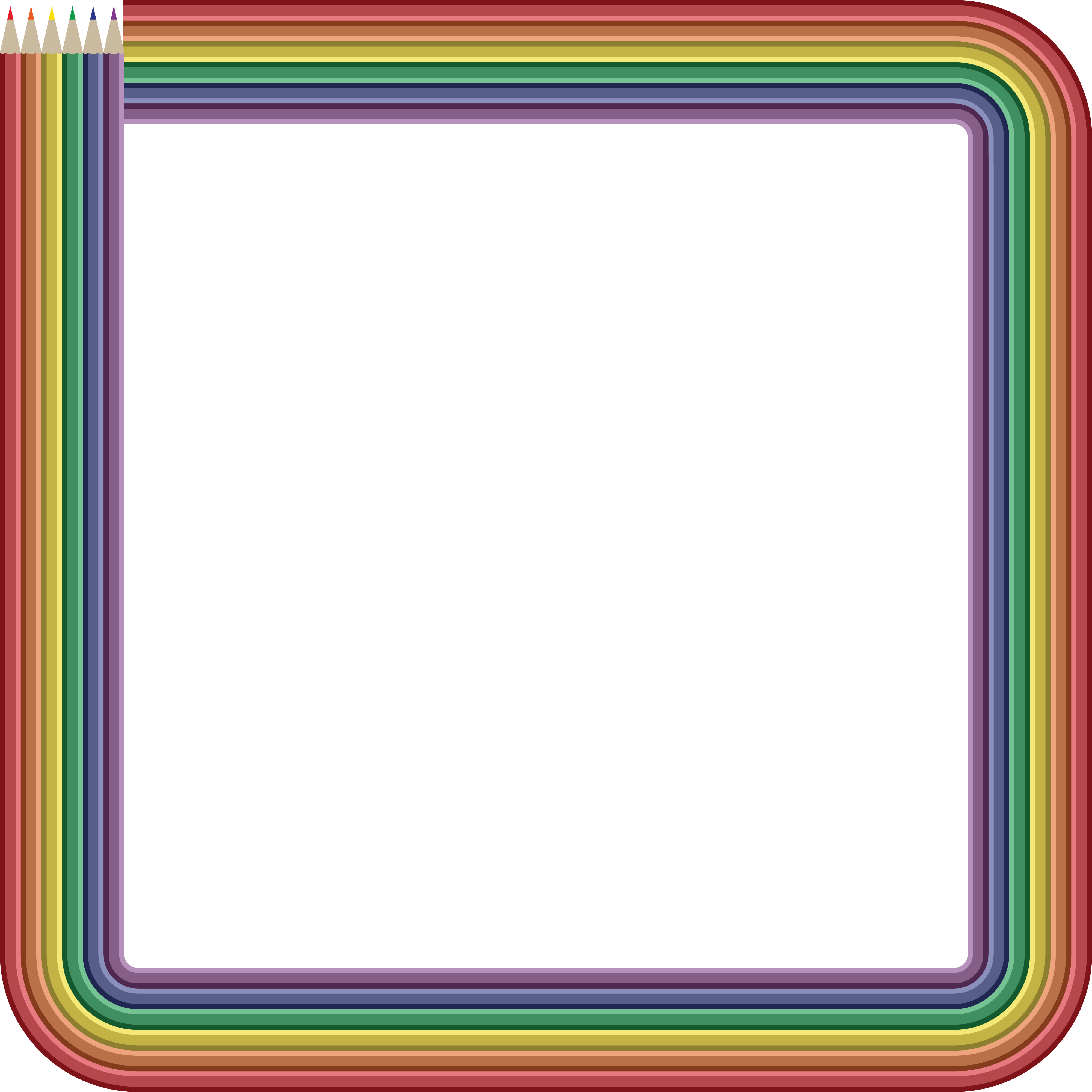 4000x4000 Free Clipart Of A Frame Of Colored Pencils