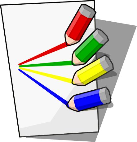 442x459 Free Colored Pencil Clipart