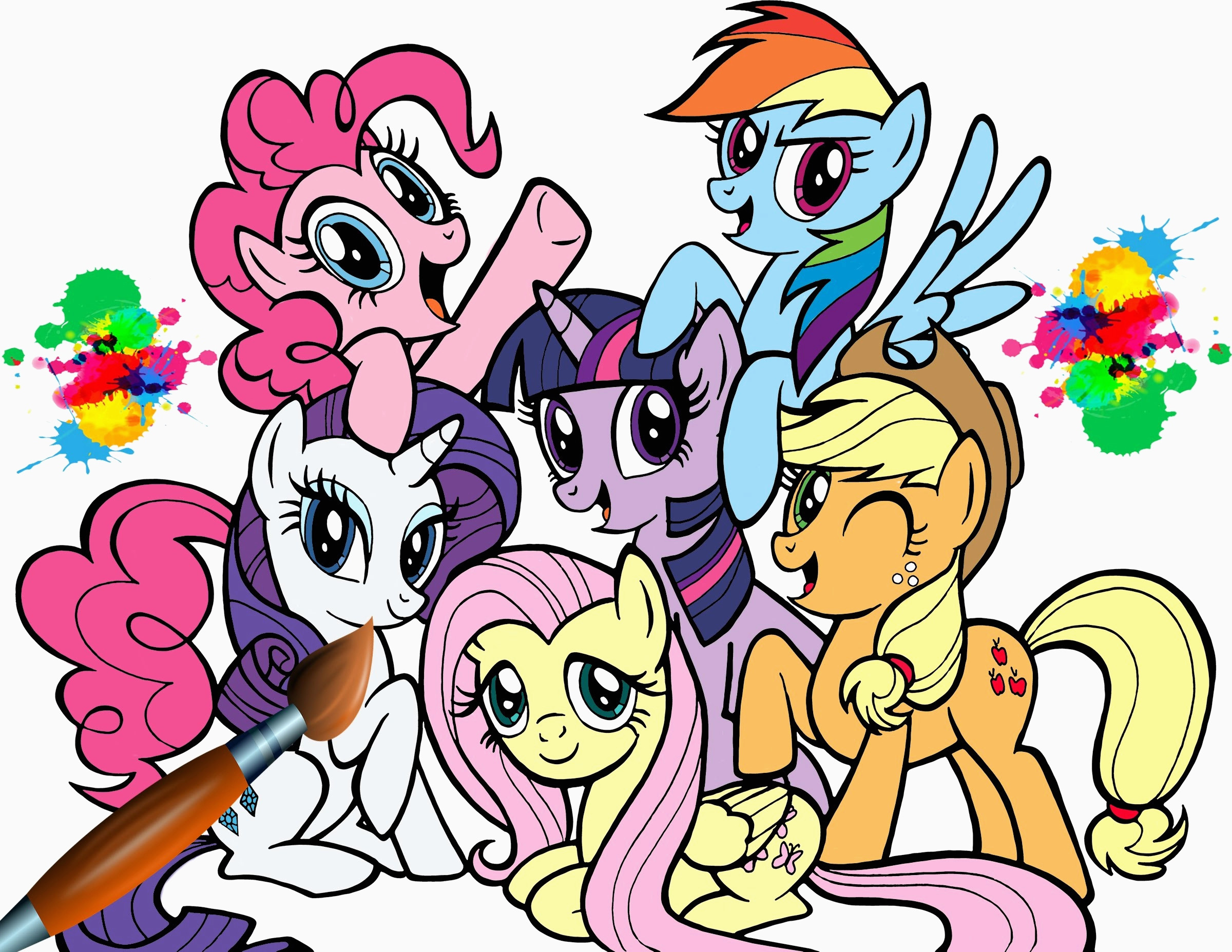 2400x1855 My Little Pony Friendship Is Magic Coloring Book @ My Little Pony