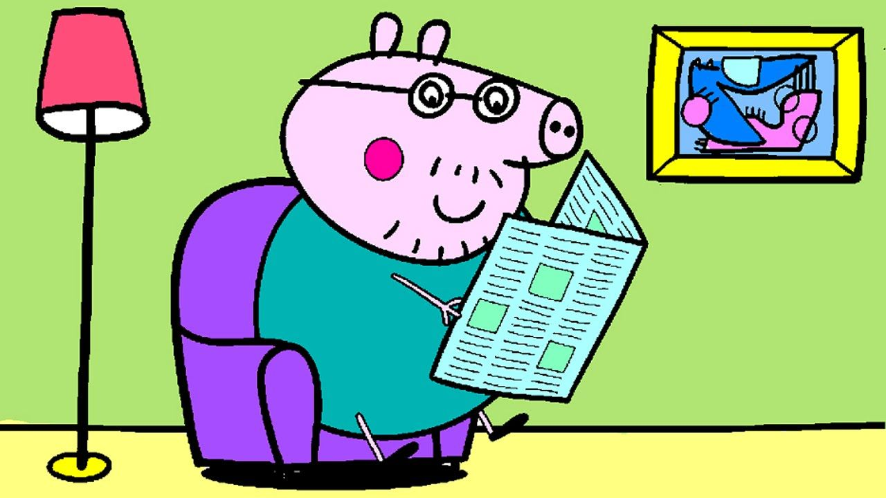 1280x720 Peppa Pig Coloring Pages For Kids