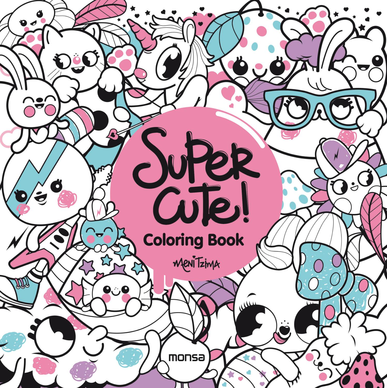 1497x1500 Super Cute Coloring Book By Monsa Publications