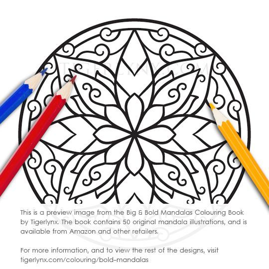 540x540 This Easy Mandala Colouring Page Is From The Big Amp Bold Mandalas
