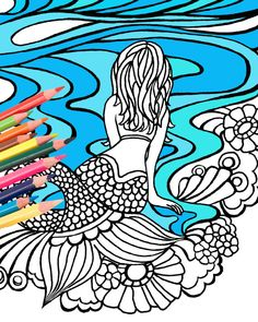 236x295 Vw Surf Bus Adult Coloring Book Page Digital Download