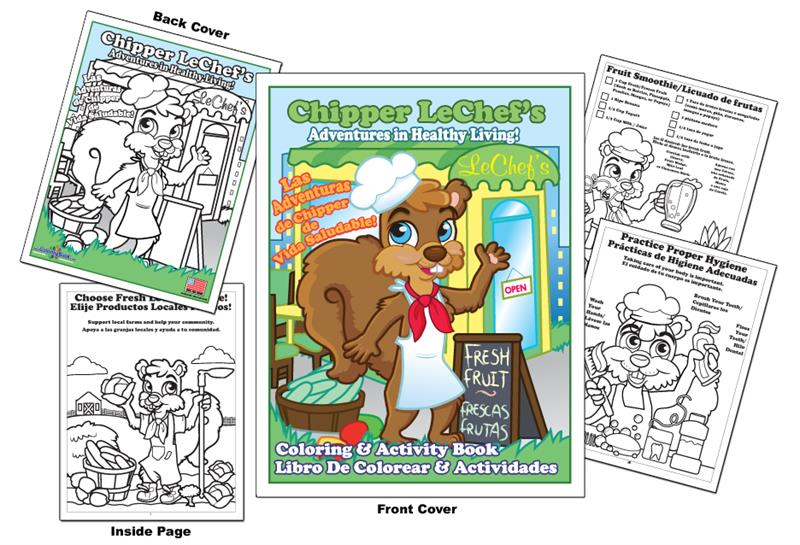 800x545 Coloring Books Wic Chipper Lechef's Adventures In Healthy Living
