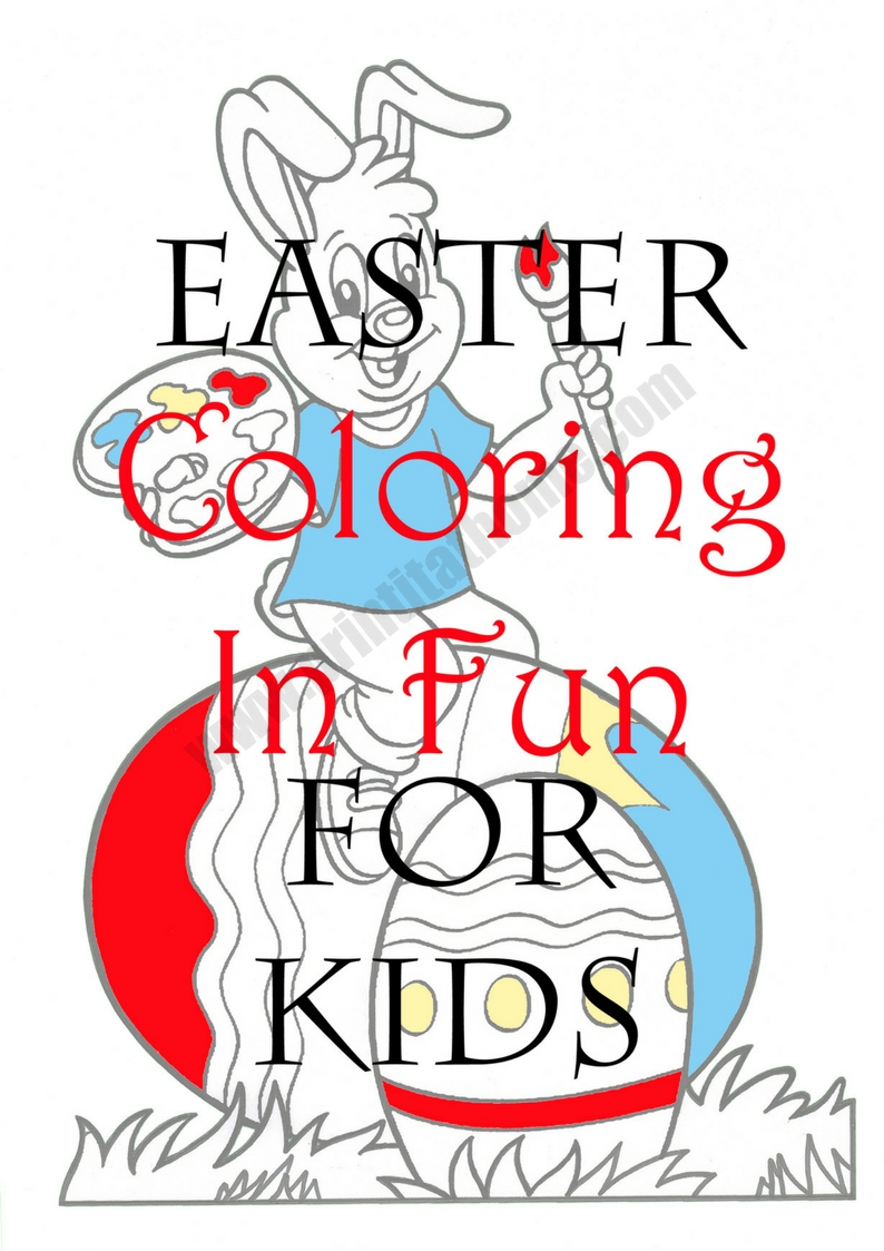 794x1123 Coloring In Book For Children Easter