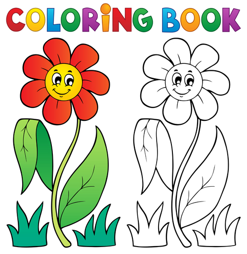 500x513 Coloring Book Free Coloring Book Vector Set 03 Vector Other Free
