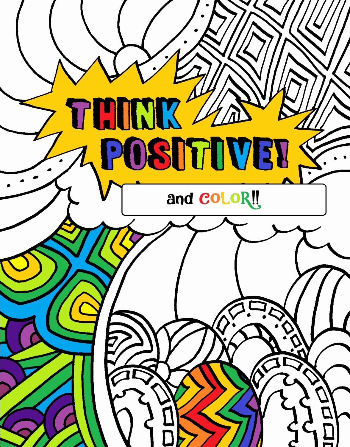 1176x1500 Colouring In Book Beautiful Positive Words Coloring Book Pages By